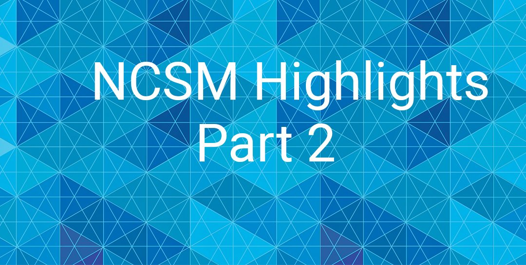 Reflections on NCSM, Part 2