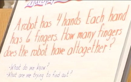Robot Fingers and Multiplicative Structure